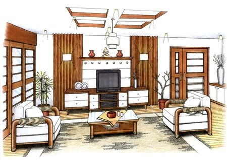 Interior design evan james interiorsevan james interiors Room sketches interior design